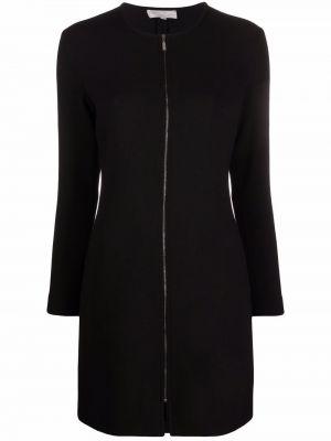 Черное платье мини с длинными рукавами Antonelli