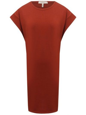 Хлопковое платье - красное Rag&bone
