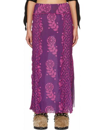 Фиолетовая юбка макси длинная Anna Sui