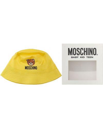 Bawełna żółty bawełna kapelusz Moschino
