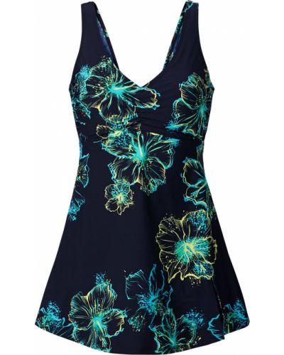 Бирюзовое купальное платье с чашками Bonprix