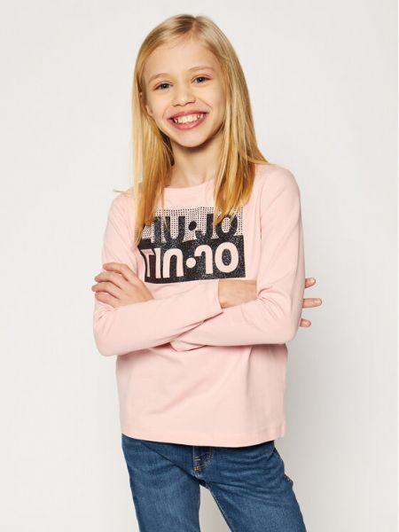 Bluzka - różowa Liu Jo Kids