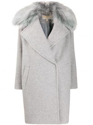 Длинное пальто с капюшоном на пуговицах Michael Michael Kors