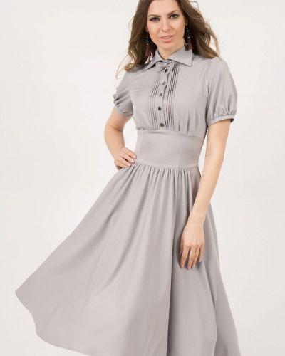 Повседневное платье серое оливковый Olivegrey