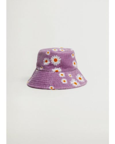 Fioletowy kapelusz Mango