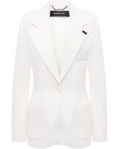 Белый пиджак с подкладкой из вискозы Barbara Bui