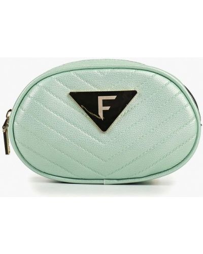 Кожаный сумка поясная бирюзовый Fabretti