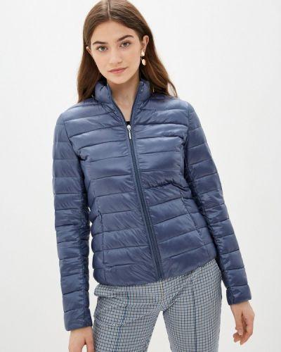 Теплая синяя утепленная куртка снежная королева