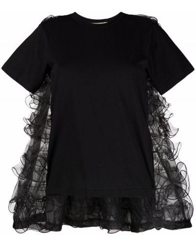 Блузка с короткими рукавами - черная Comme Des Garçons