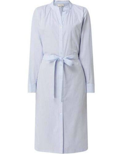 Niebieska sukienka koszulowa rozkloszowana bawełniana Levete Room