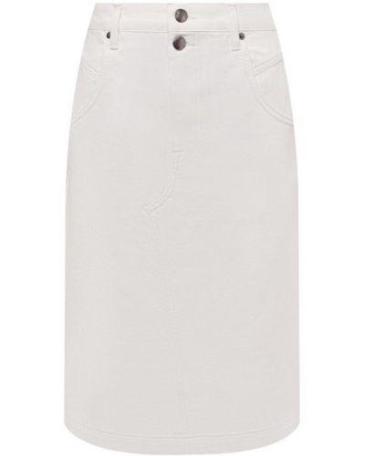 Джинсовая юбка - белая Frame Denim