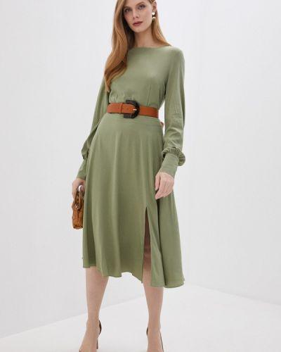 Прямое зеленое платье Trendyangel