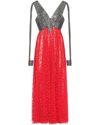Ażurowy sukienka na sznurowadłach Christopher Kane