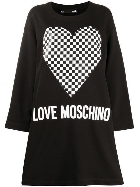 Платье миди платье-толстовка в клетку Love Moschino