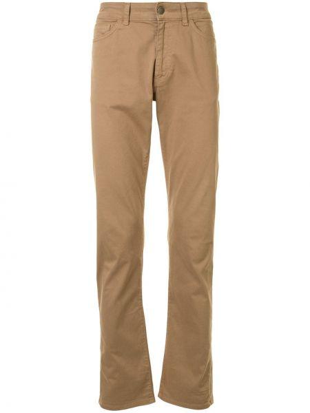 Brązowe klasyczne jeansy bawełniane Gieves & Hawkes