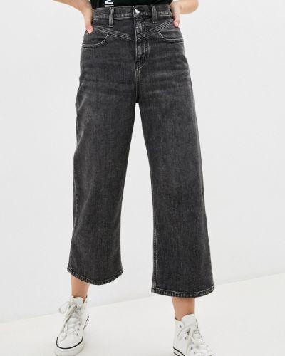 Серые расклешенные джинсы свободного кроя Calvin Klein Jeans