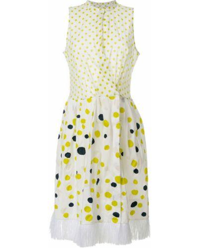 Платье в горошек с запахом Sara Roka