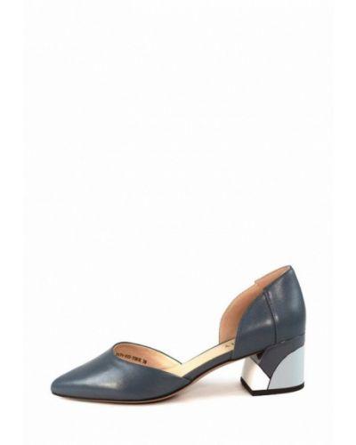 Кожаные туфли - голубые Visttaly