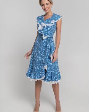 Платье с поясом с запахом с V-образным вырезом Sezoni