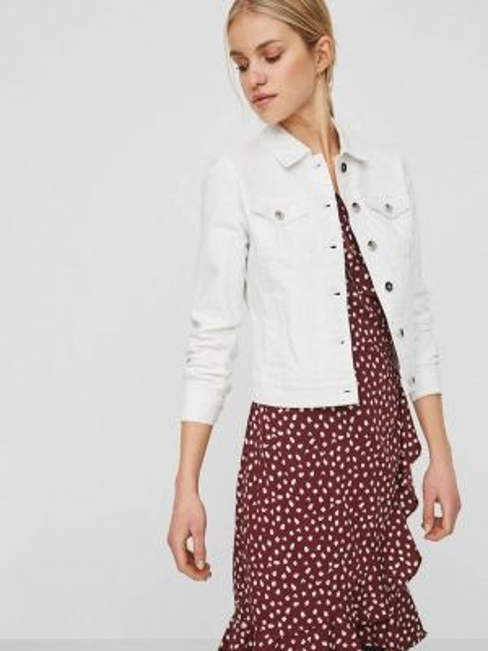 Джинсовая куртка весенняя белая Vero Moda