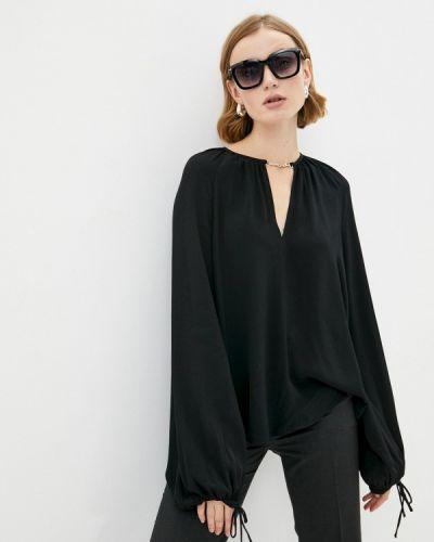 Черная блузка с длинными рукавами Trussardi