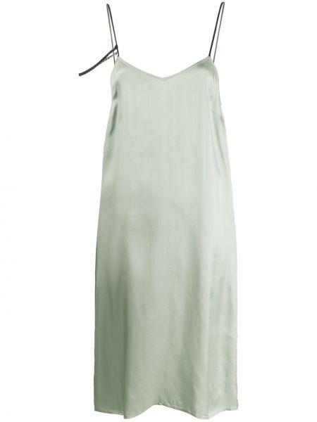 Платье атласное - зеленое A.f.vandevorst