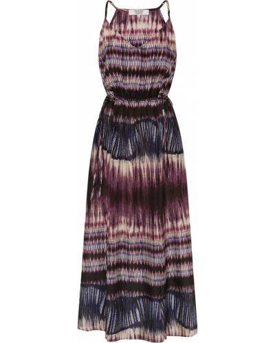 Фиолетовое сарафан с V-образным вырезом с принтом Gerard Darel