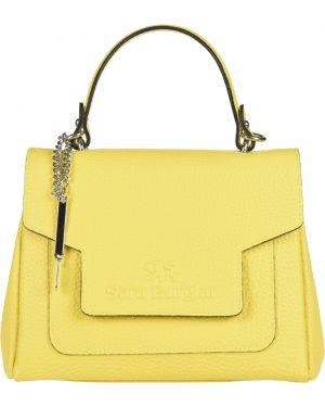 Кожаная сумка - желтая Sara Burglar