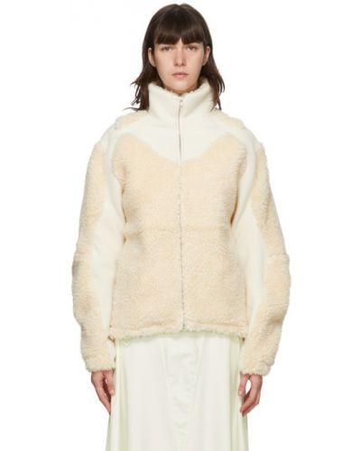 Сатиновая белая длинная куртка с манжетами с подкладкой Gmbh
