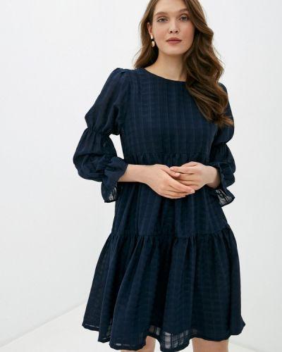 Прямое синее платье Ichi