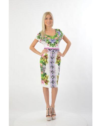 Летнее платье из вискозы итальянский Angelo Marani