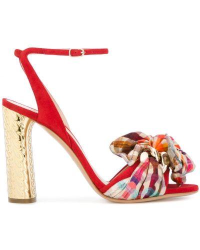 Сандалии на шнуровке с бантом Casadei