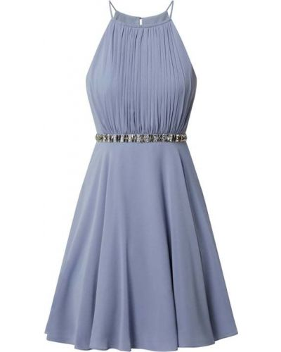 Niebieska sukienka koktajlowa z cekinami z szyfonu Jake*s Cocktail