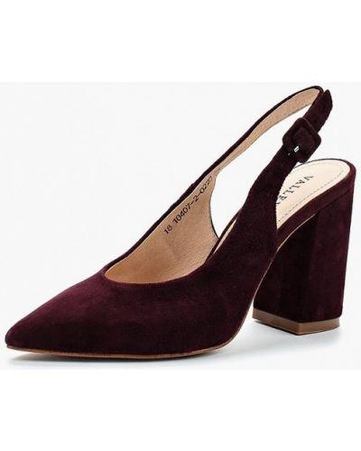 Кожаные туфли с открытой пяткой на каблуке Valley