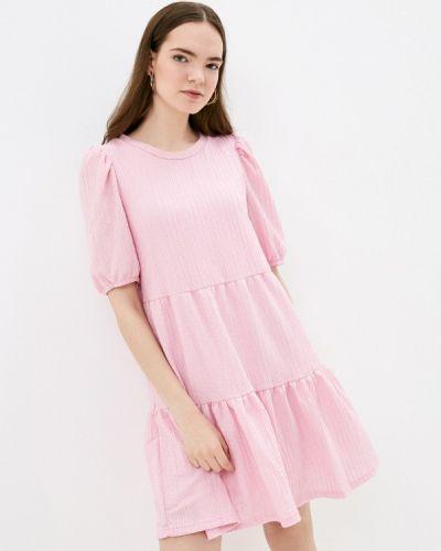 Прямое розовое платье А-силуэта B.young