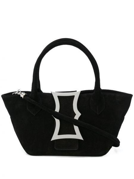 Czarna torebka mini zamszowa Dorateymur