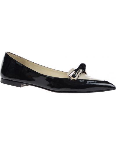 Кожаные туфли лаковые черные Loriblu