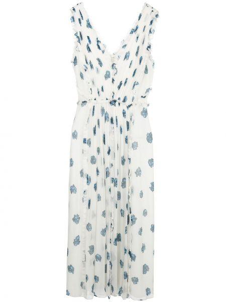 Платье миди со вставками с V-образным вырезом на молнии без рукавов Jason Wu