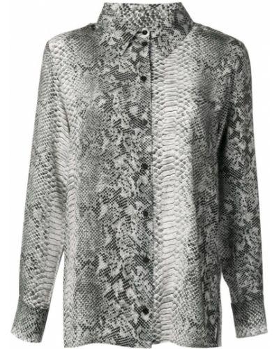 Блузка с длинным рукавом с принтом кожаная Gold Hawk