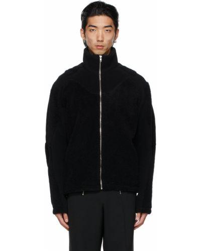 Czarna kurtka srebrna z długimi rękawami Gmbh