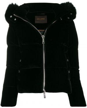 Прямая куртка с капюшоном мятная двусторонняя Moorer