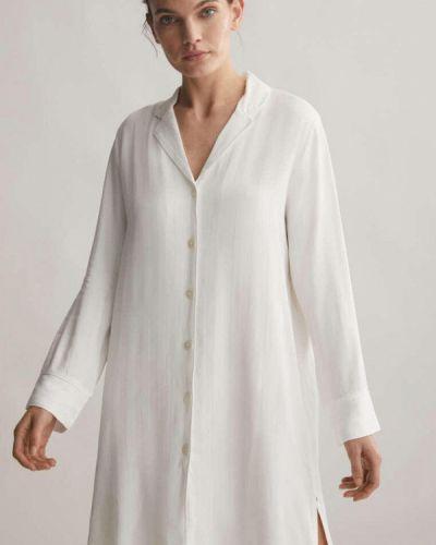 Домашнее белое платье Oysho