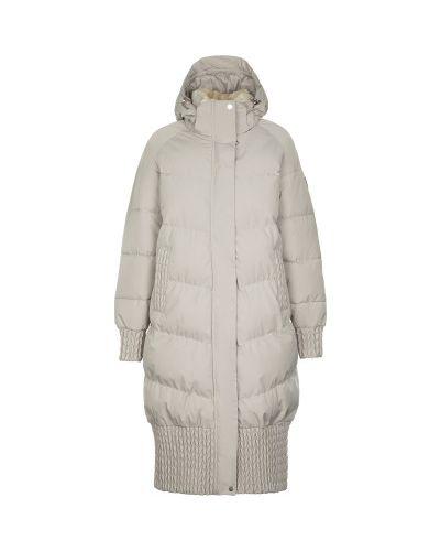 Бежевая теплая свободная куртка на молнии Luhta