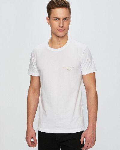 T-shirt dzianinowa - biała Versace Jeans