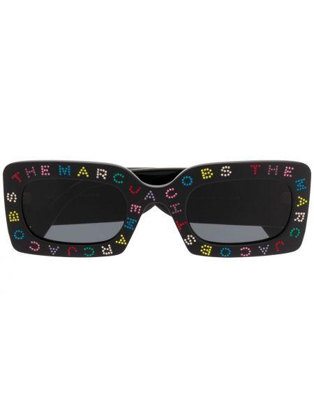 Прямые черные солнцезащитные очки квадратные Marc Jacobs Eyewear