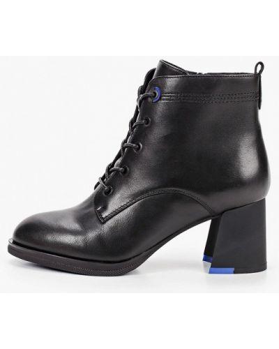 Кожаные черные кожаные ботильоны Pierre Cardin