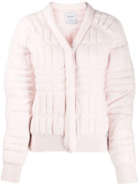 Розовая куртка с манжетами на пуговицах в рубчик Barrie