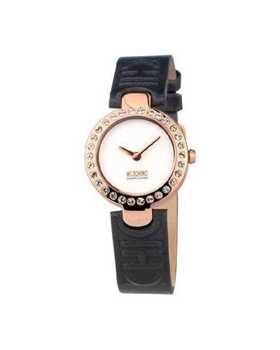 Часы на кожаном ремешке Moschino