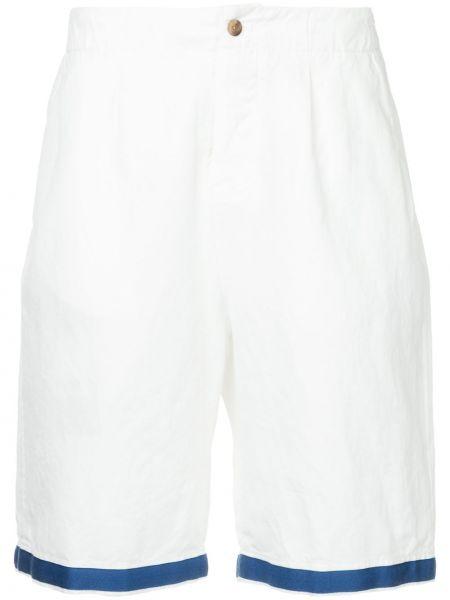 Белые шорты-чиносы с карманами Kent & Curwen