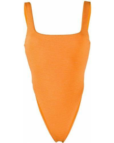 Слитный купальник с вырезом - оранжевый Mara Hoffman